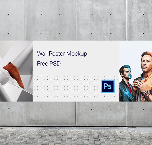 free-wall-poster-mockup